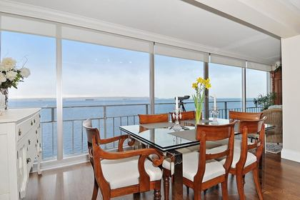 Dining with ocean view at 603 - 150 24th, Dundarave, West Vancouver