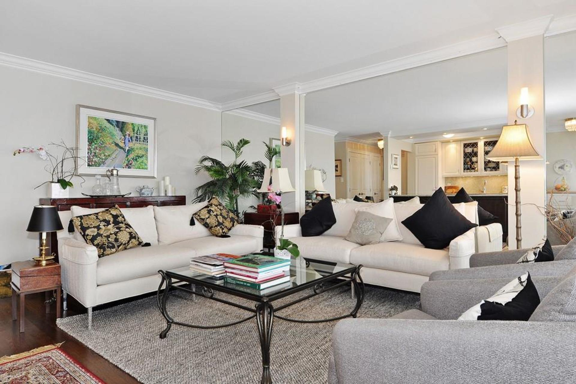 Living Room at 603 - 150 24th, Dundarave, West Vancouver