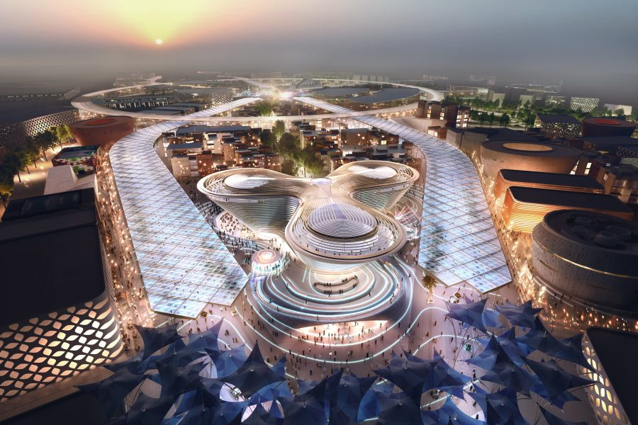 Dubai's Expo 2020 master plan, designed by HOK, will cover 438 hectares.