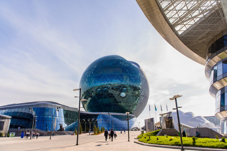 The centrepiece of Expo 2017 in Astana, Kazakhstan, is the eight-storey Nur Alem sphere, with a diameter of 80 metres.