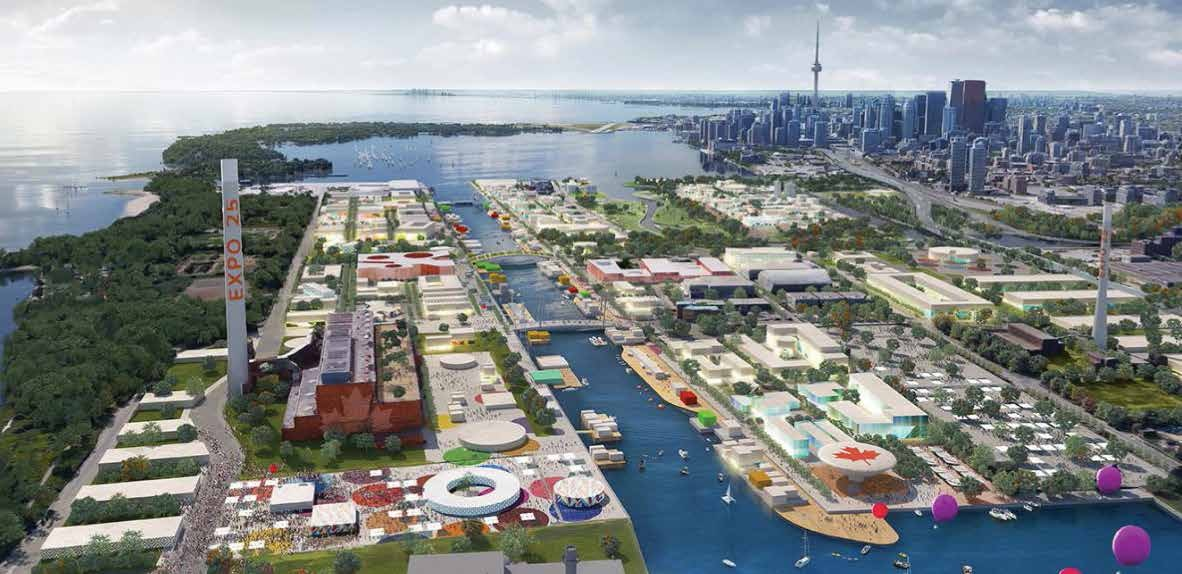 Toronto's plan for Expo 2025 focused on overhauling the Port Lands