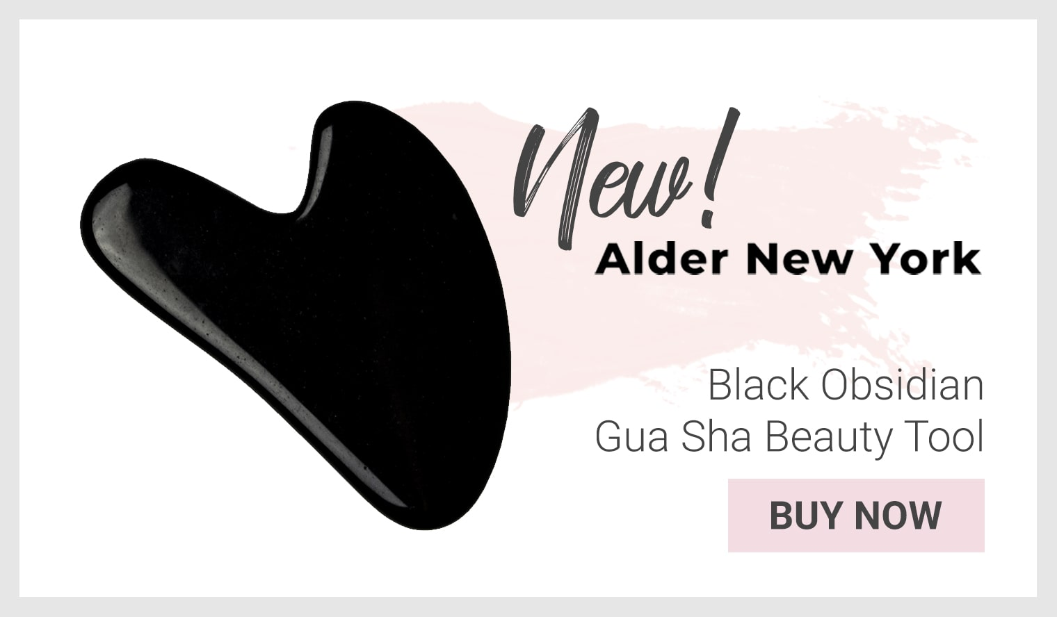 Alder New York Black Obsidian Gua Sha Beauty Tool