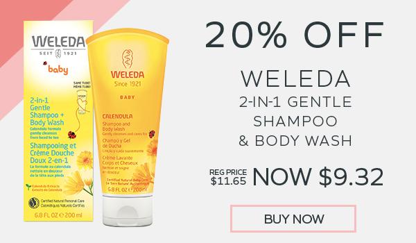 20% Off Weleda 2-in-1 Baby Shampoo & Body Wash
