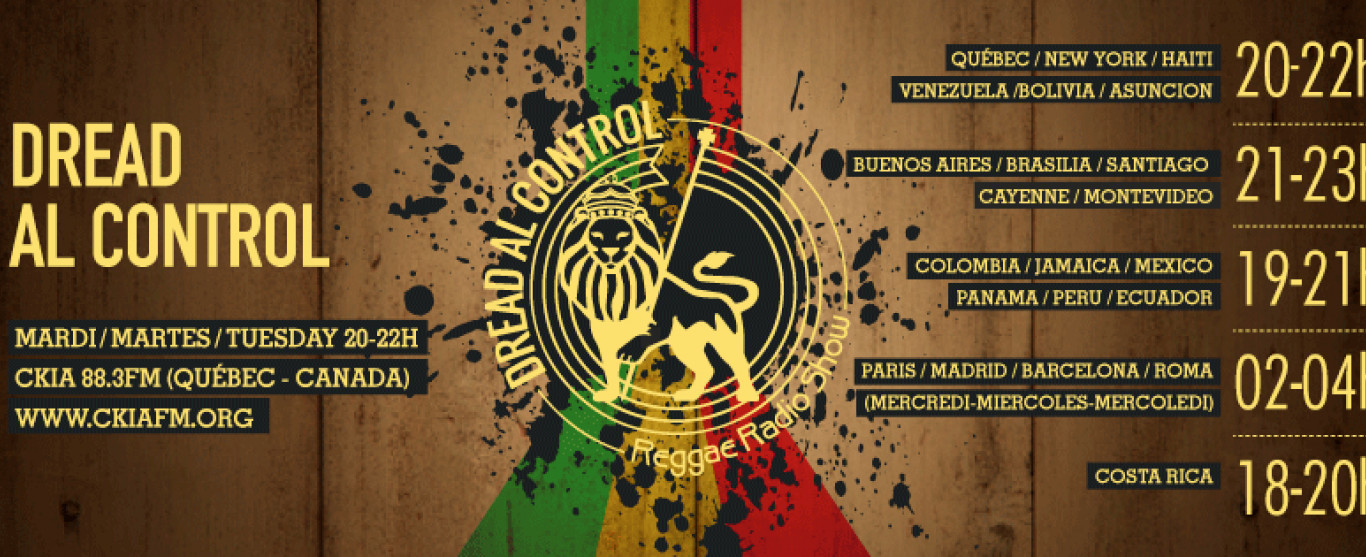 Playlist Dread Al Control Reggae Radio Show 3-06-2017