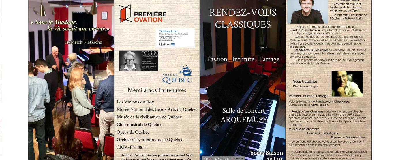 Le 13 juin : Escapades musicales de la Cité et la prochaine saison de Rendez-Vous Classiques