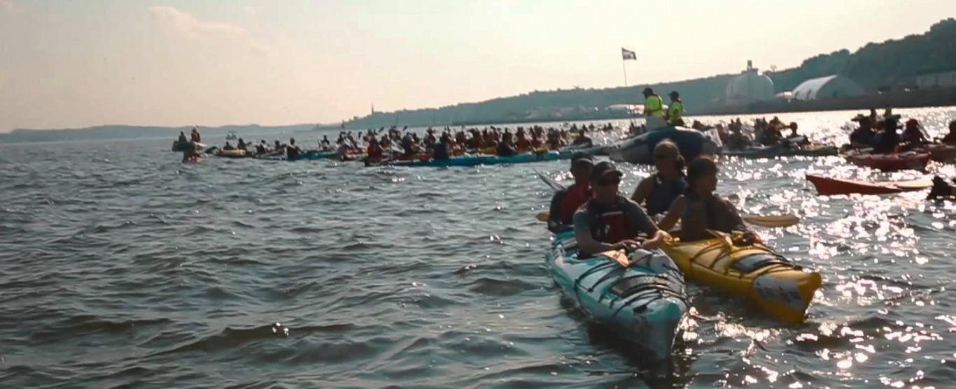 Ce jeudi 15 septembre à 10h pour l'émission Ici et Ailleurs : le Défi Kayak Desgagnés Mtl-Québec