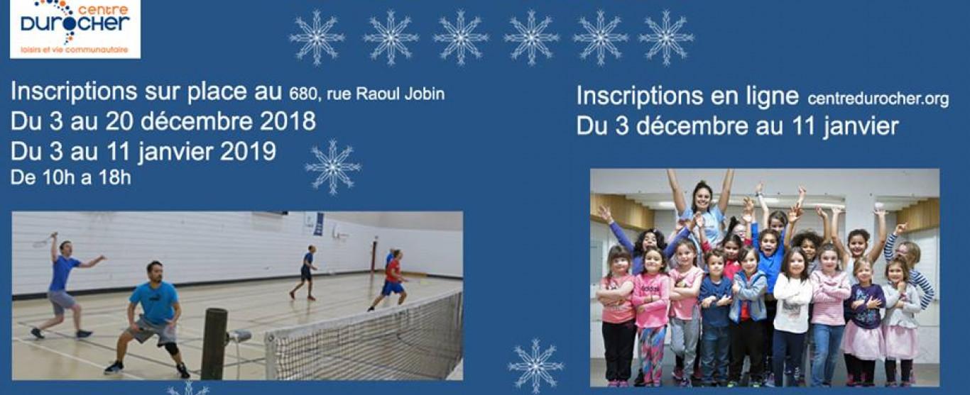 Prrogrammation hiver 2019 Centre Durocher