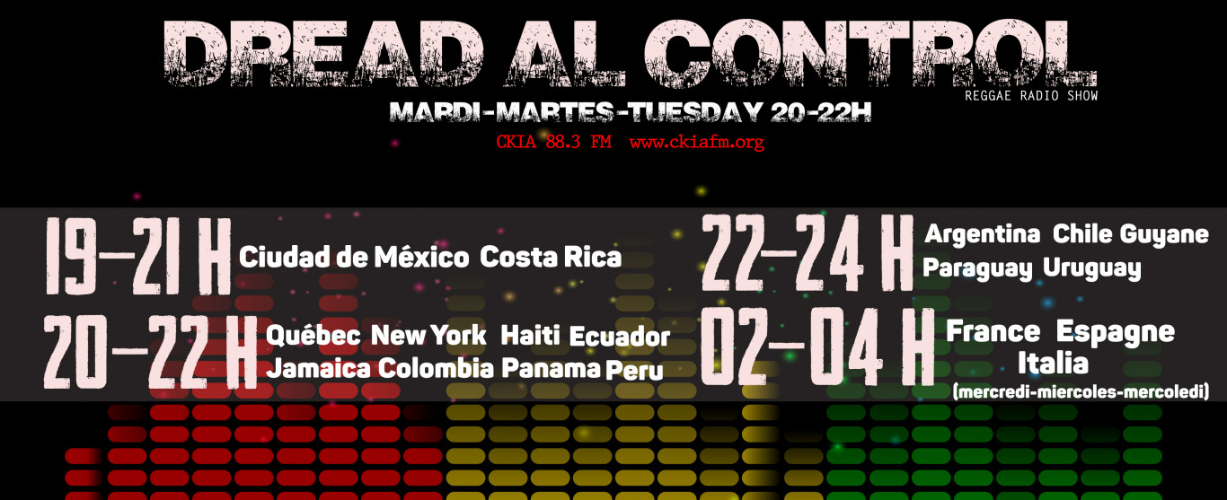 Playlist Dread Al Control Reggae Radio Show 2018-12-04