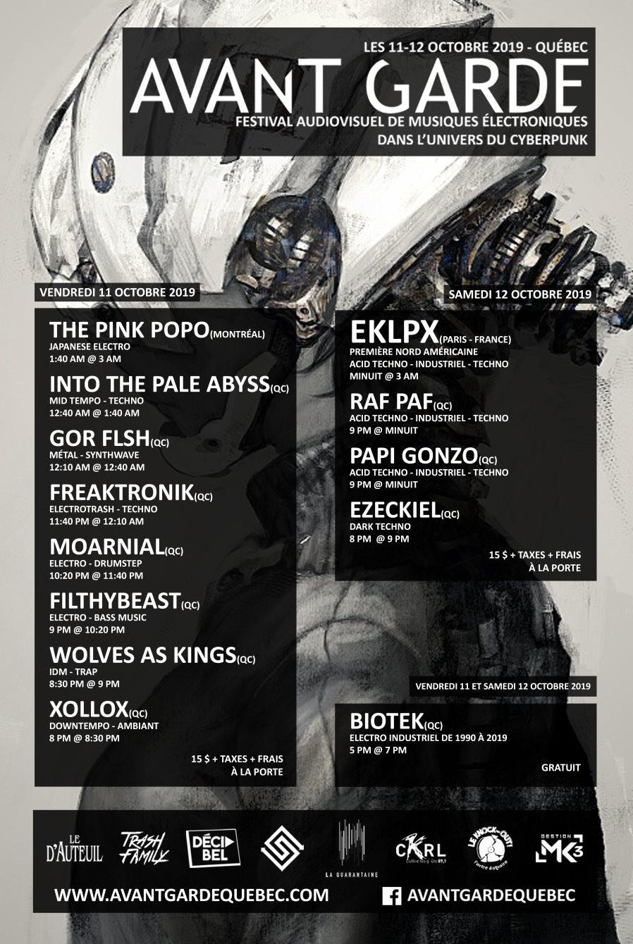 FESTIVAL « Avant Garde » au Bar le d'Auteuil les 11 et 12 octobre à 20h
