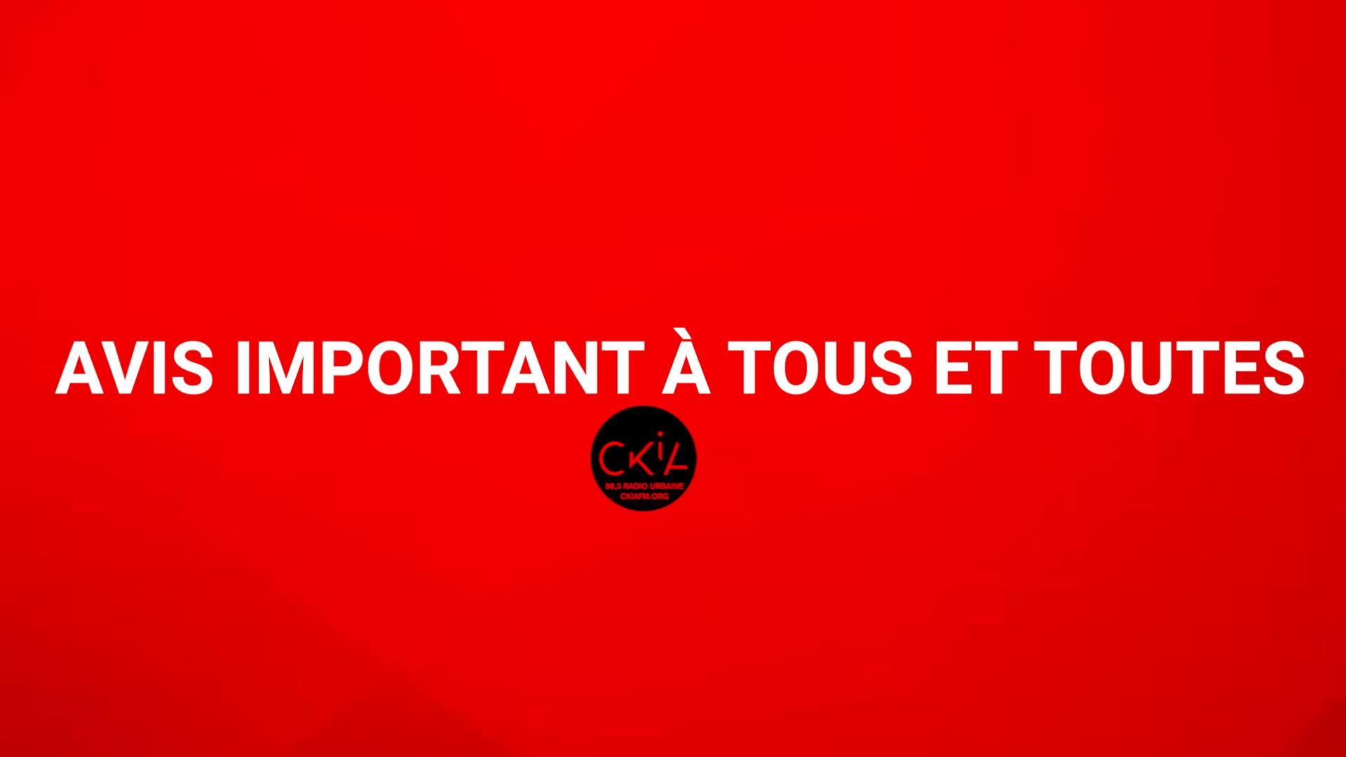 Message du Président du C.A de CKIA FM