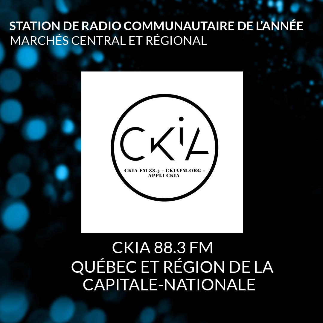 CKIA Station communautaire de l'année