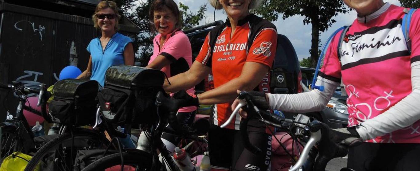 Ce jeudi 27 octobre dès 10h à l'émission Ici et Ailleurs : Traversée du Canada en vélo par 4 femmes de 58 à 66 ans