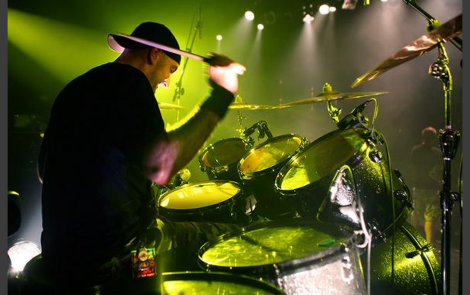 Former student Matt Byrne drummer with Hatebreed