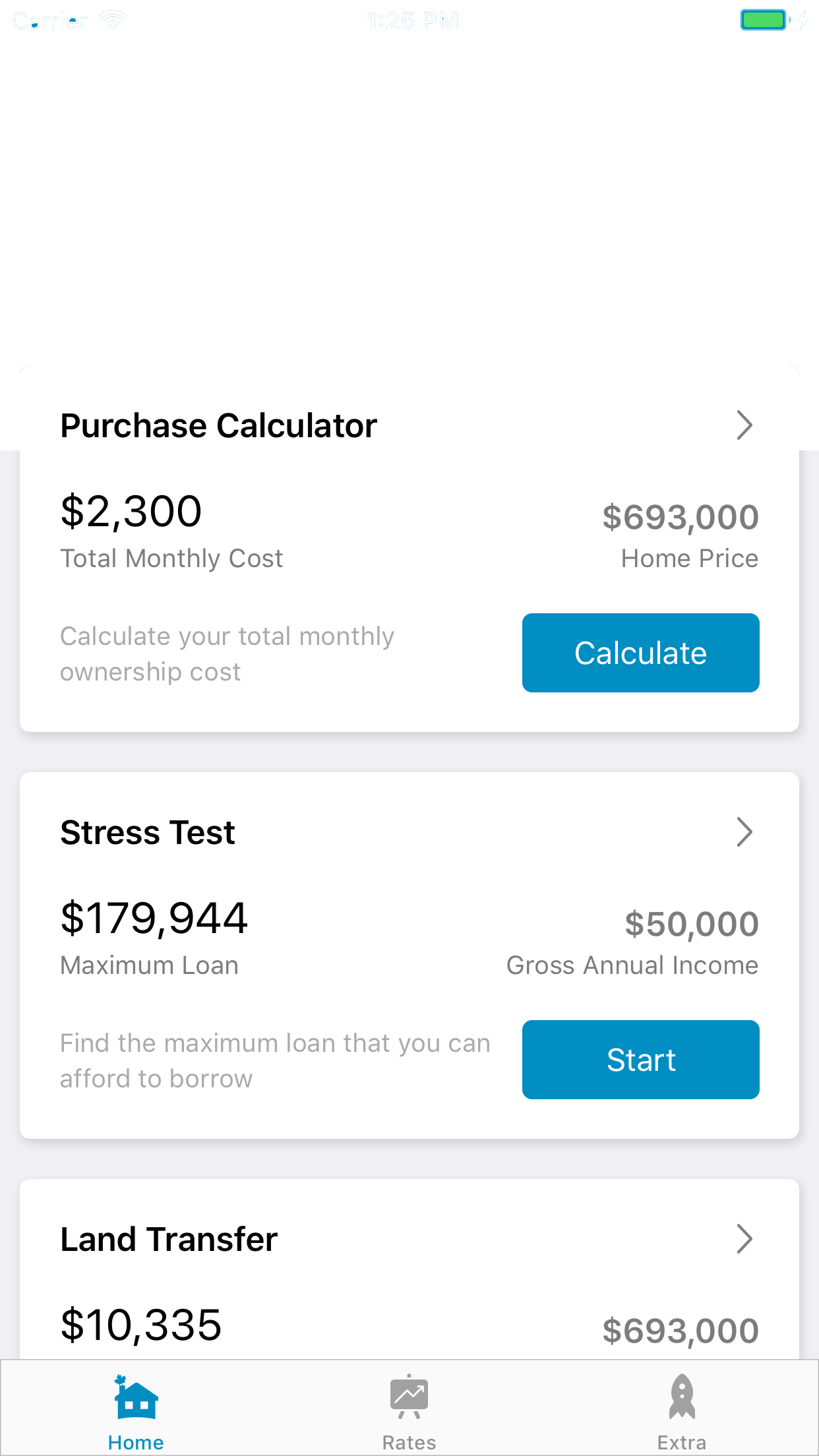 Canadian Mortgage App PRO content preview
