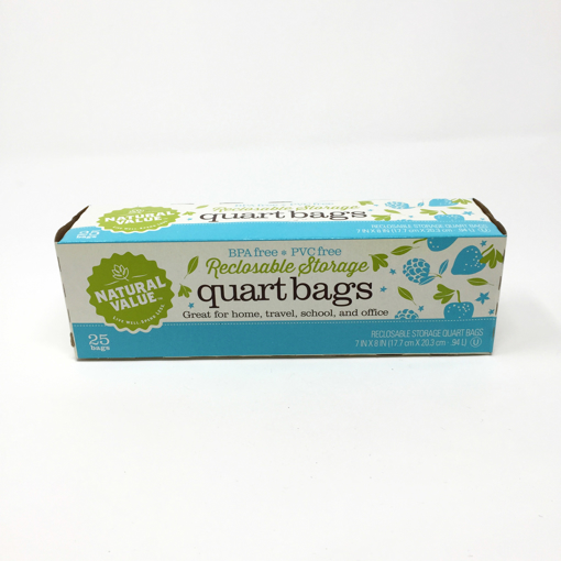 Picture of Reclosable Storage Bags Quart - 25 count