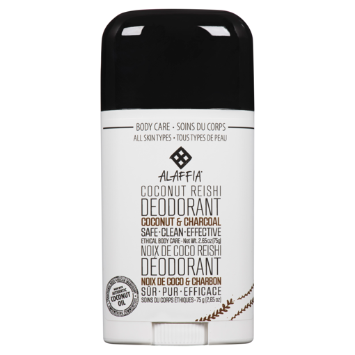 Picture of Coconut Reishi Deodorant - Coconut & Charcoal - 75 g