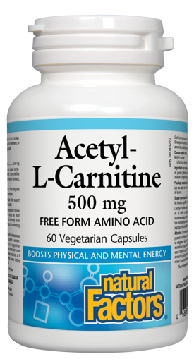 Picture of Acetyl-L-Carnitine - 500 mg - 60 veggie capsules