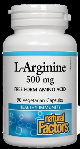 Picture of L-Arginine - 500 mg - 90 veggie capsules