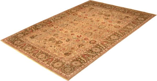 10X14 Beige Brown Wool Area Rug