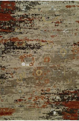 Penumbra Collection 8X10 Wool & Silkette Rug