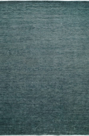 Contemporary 3X5 Blue Wool Area Rug