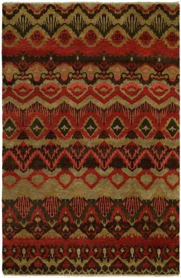 Craft Collection 4x6 Brown Wool Area Rug