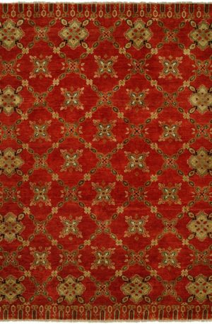 Craft Collection Runner Red Wool Area Rug