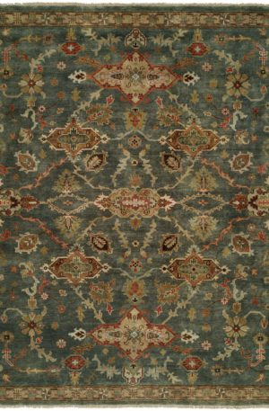 Craft Collection Runner Blue Wool Area Rug
