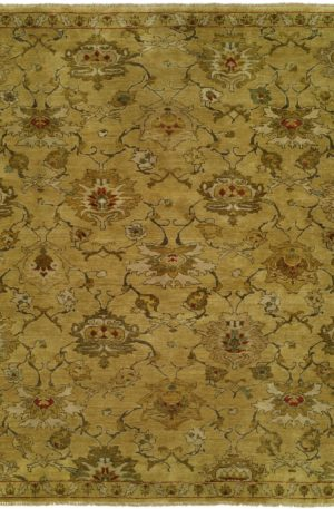 Craft Collection Runner Gold Wool Area Rug