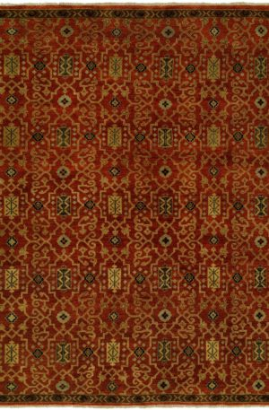 Craft Collection 3X5 Red Wool Area Rug