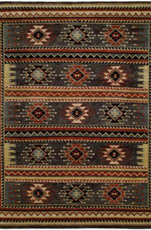 Rio Grande Collection 6X9 Grey Wool Area Rug