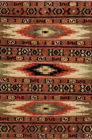 Rio Grande Collection 4X6 Multi Color Area Rug