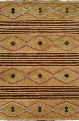 Rio Grande Collection 3X5 Beige Wool Area Rug