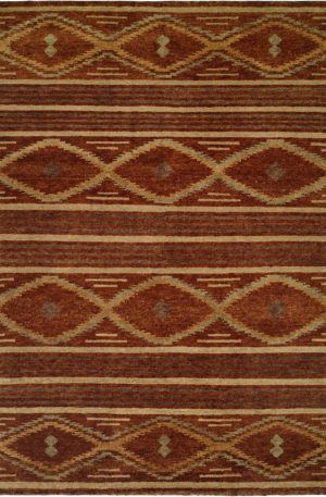 Rio Grande 3X5 Brown Wool Area Rug