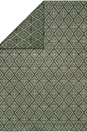 Flatweave 4X6 Grey Wool Area Rug