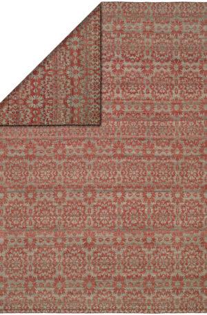Flatweave 4X6 Pink Blue Wool Area Rug