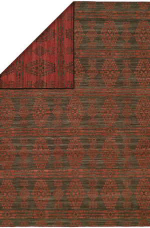 Flatweave Transitional 4X6 Red Wool Area Rug