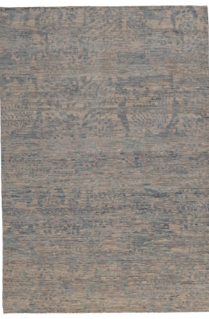 Transitional 6X9 Blue Wool Area Rug