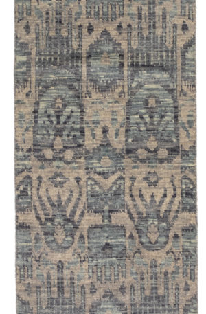 Transitional Runner Grey Wool Area Rug