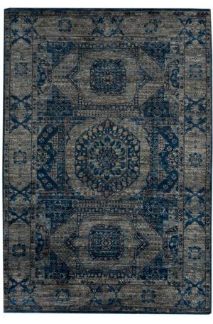 6X9 Blue Multi Wool Area Rug
