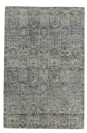 Transitional 5X8 Grey Wool Area Rug