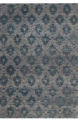 Transitional 9X12 Grey Wool Area Rug
