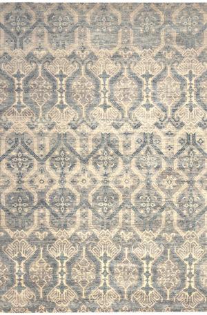 9X12 Grey Wool Area Rug