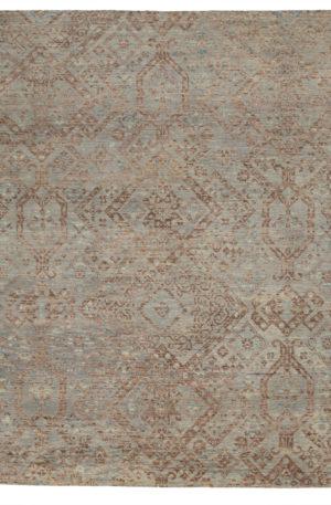 8X10 Silver Wool Area Rug