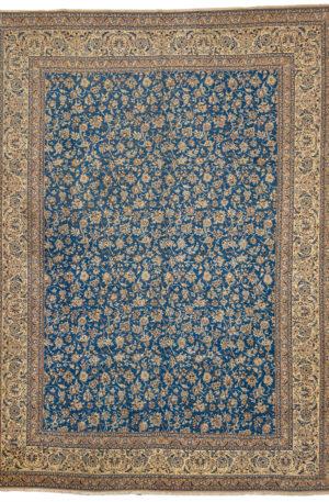 Persian Nain 10X14 Blue Ivory Wool Area Rug