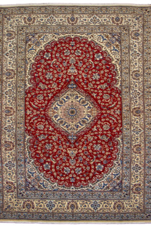 Persian Nain 9X12 Red Ivory Area Rug