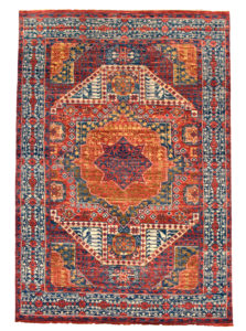 Mamluk Design India 6X9 Wool Area Rug