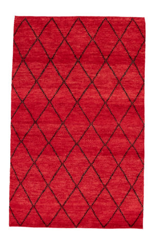 3X5 Red Wool Area Rug