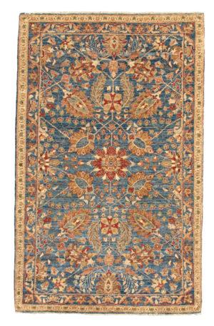 Afghan 3X5 Blue Blue Wool Area Rug