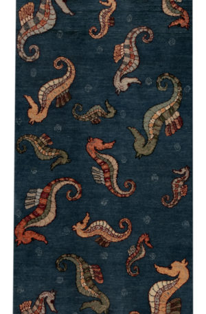 3X5 Blue Wool Area Rug